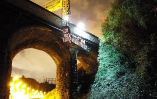 kelvindale railway station bridge repair